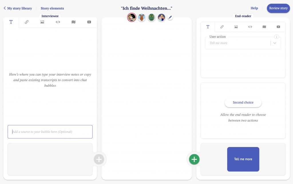 """Der Screenshot zeigt das """"chat dashboard""""."""